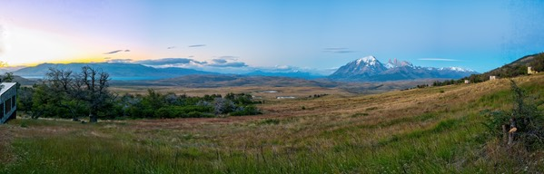 Pano from our Awasi Patagonia room
